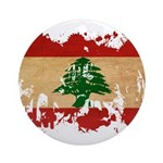 Lebanon Flag Ornament (Round)