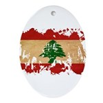 Lebanon Flag Ornament (Oval)