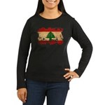 Lebanon Flag Women's Long Sleeve Dark T-Shirt