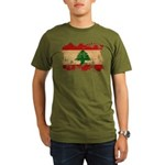 Lebanon Flag Organic Men's T-Shirt (dark)