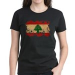 Lebanon Flag Women's Dark T-Shirt