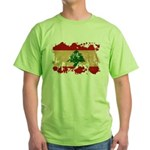 Lebanon Flag Green T-Shirt