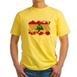 Lebanon Flag Yellow T-Shirt