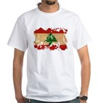 Lebanon Flag White T-Shirt