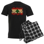Lebanon Flag Men's Dark Pajamas