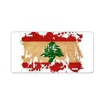 Lebanon Flag Aluminum License Plate