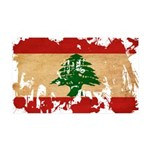 Lebanon Flag 38.5 x 24.5 Wall Peel
