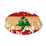 Lebanon Flag 22x14 Oval Wall Peel
