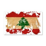 Lebanon Flag Car Magnet 20 x 12