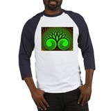 """Tree 2"" Fractal Art Baseball Jersey"