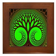 """Tree 2"" Fractal Art Framed Tile"