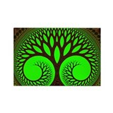 &quot;Tree 2&quot; Fractal Art Rectangle Magnet