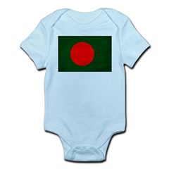 Bangladesh Flag Infant Bodysuit