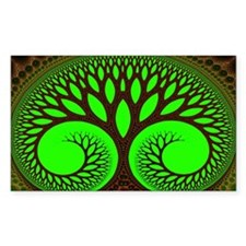 """Tree 2"" Fractal Art Rectangle Decal"