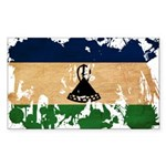 Lesotho Flag Sticker (Rectangle 50 pk)