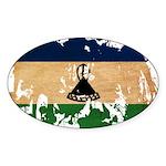 Lesotho Flag Sticker (Oval)