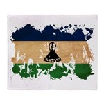 Lesotho Flag Throw Blanket