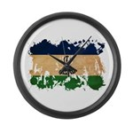 Lesotho Flag Large Wall Clock