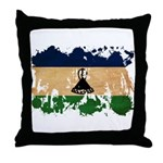Lesotho Flag Throw Pillow