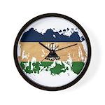 Lesotho Flag Wall Clock
