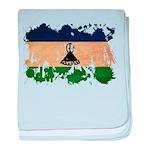 Lesotho Flag baby blanket