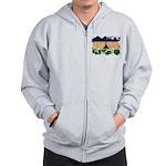 Lesotho Flag Zip Hoodie
