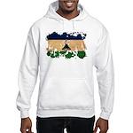 Lesotho Flag Hooded Sweatshirt
