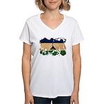 Lesotho Flag Women's V-Neck T-Shirt
