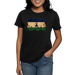 Lesotho Flag Women's Dark T-Shirt