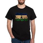 Lesotho Flag Dark T-Shirt