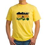 Lesotho Flag Yellow T-Shirt