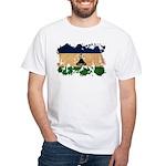 Lesotho Flag White T-Shirt