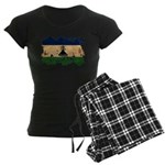 Lesotho Flag Women's Dark Pajamas