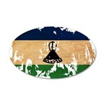 Lesotho Flag 38.5 x 24.5 Oval Wall Peel
