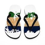 Lesotho Flag Flip Flops