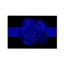 PoliceWives.Org Blueline Rectangle Magnet