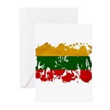 Lithuania Flag Greeting Cards (Pk of 20)