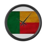 Benin Flag Large Wall Clock