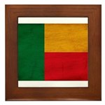 Benin Flag Framed Tile