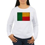 Benin Flag Women's Long Sleeve T-Shirt