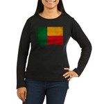 Benin Flag Women's Long Sleeve Dark T-Shirt