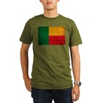 Benin Flag Organic Men's T-Shirt (dark)