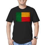 Benin Flag Men's Fitted T-Shirt (dark)