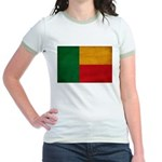 Benin Flag Jr. Ringer T-Shirt
