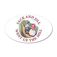Jack and Jill 22x14 Oval Wall Peel