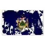 Maine Flag Sticker (Rectangle 10 pk)