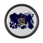 Maine Flag Large Wall Clock