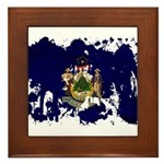 Maine Flag Framed Tile