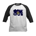 Maine Flag Kids Baseball Jersey