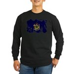 Maine Flag Long Sleeve Dark T-Shirt